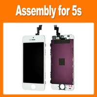 For Apple iPhone LCD Screen Panels  New!!!Replacement for LCD Display Screen Assembly with Touch Digitizer Front Screen Glass for iPhone 5S via ePacket (1603010)