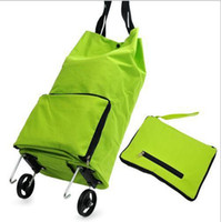 Folding shopping  Plain Folding Tote Handbags Trolley Case Shopping Bags Luggage Folding Shopping Bag L443