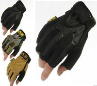 Football big baseball glove - new half finger MECHANIX Wear Tactical Gloves for Combat Work Army Military Racing Leather Motocross Gloves big M gloves