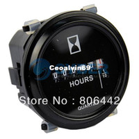 Wholesale New Black Round Hour Meter AC DC V Timer TK0285