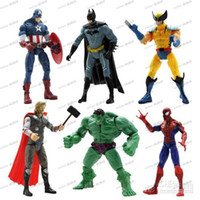 Wholesale LLFA3608 The Avengers Marvel Hero Captain Iron Man the Hulk quot Action Figure Doll Toys Movie Carton hot set