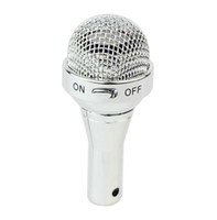 Wholesale New Mini Microphone Speaker USB Rechargeable Speaker Iphone Mobile Phone MP3 Computer Silver K0227D