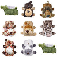 Wholesale Cute Plush Toys Tissue Boxes Cozy Napkin Holder Case Cartoon Animal Modelling Style Choose ZFK