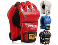 Wholesale Hot Sale colors Half Finger Boxing Gloves Sanda Fighting Sandbag Gloves MMA gloves