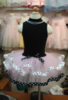 2-4T   5pcs lot new Girls Leotard Ballet Tutu Skate Dance Birthday Dress China baby girl dance dress