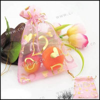 Wholesale 150pcs Pink Wedding Organza Gift Bags Jewelry Pouches cm