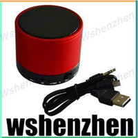 Wholesale Outdoor S10 Wireless Mini Bluetooth Speaker Subwoofer Active Music Box Handsfree Car USB Tube HiFi Stereo Speakers for iPhone HTC LG