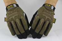 Wholesale new sale MECHANIX Wear Tactical Gloves for Combat Work Army Military Racing Leather Motocross Gloves M pack gloves color