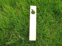 Bookmark Yes Wood fruit apple shape with a leaf style wooden bookmark