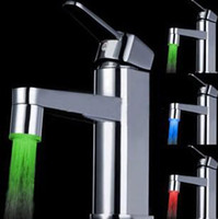 ABS Yes  New LED Kitchen Sink & Bathroom basin Mixer Tap 3 Color Chrome Faucet Temperature Sensor