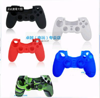 Wholesale New Christmas gift colourful protective sleeve cases soft silicone rubber case cover skin for Play Station PS4 PS