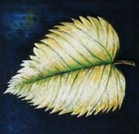 Peinture à l'huile de plantes Peintures murales à la main Art nouveau style de mode la feuille de zigzag Décoration naturelle Décor Maison Bureau Belle art de mur Vente en ligne