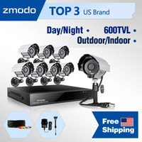 Wholesale Zmodo CH DVR CCTV home security camera system with outdoor indoor tvl IR video surveillance High Resolution Camera TB HDD