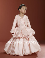 Reference Images Baby Ball Gown flower girls ball gown dresses for pageant party wedding dresses with jacket corset style ruffles beading sequins customize