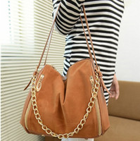 Wholesale Koran Style Fashion Solid Color Chain Bags Nubuck Leather Shoulder Bags Hobo Zipper Satchel Bags YB1051