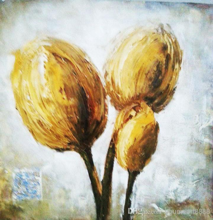 Floral oil painting on canvas art house decor office for Best way to sell paintings online
