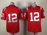 Wholesale Brand New Tom Brady Game Sports Wear for Men Hot Sale Patriots Team Red Sports Shirts Mens Quarterback Tops Football Jerseys