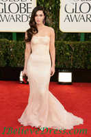 Reference Images Floor-Length Taffeta newest lace Red Carpet Dresses Golden Globe Dresses Gorgeous Megan Fox long Strapless Mermaid Prom Evening Dress 2013 Golden Globe Awards