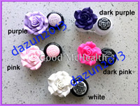 Wholesale lt Retail gt Fashion Big Rose Flower Design Contact Lens Case with Soaking Case Holder Box Colors