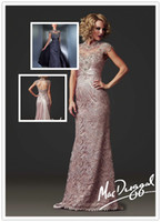 Wholesale 2016 New Sexy Lace Stunning Beading Cap Sleeves Backless Mermaid Bridalsmaid Dress Prom Dress
