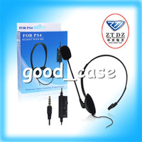 PS 4   Christmas gift Earphone headphones with MIC and volume control with retail package for playstation 4 Play Station 4 PS4 PS 4 Free shipping