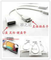 Cheap Fashion USB 2.0 Female to Micro USB 3.0 Host OTG Cable Connector Kit Adapter for Samsung Galaxy Note 3 III Note3 N9000 N9006 N9008 in Stock
