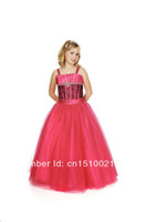 Reference Images Baby Ball Gown satin spaghetti lace up back corset style floor length appliques flower girls pageant party kids dresses prom dresses customize
