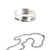 christian - S5Q Christian Bible Cross Ring Long Necklace Mens Lady Unusual Girls gift Sets AAAADB