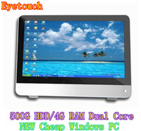 Wholesale New design inch desktop all in one pc Cheap quot Intel Celeron G Dual core LED All in one PC GB HDD GB RAM