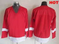 Ice Hockey blank hockey jerseys - Winter Classic Red Wings Hockey Jerseys Discount Ice Hockey Jerseys Blank Hockey Wears Comfortable Athletic Apparel Mix Order