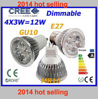 Wholesale 340pcs HOT selling High X GU10 E27 MR16 AC DC V Dimmable W LEDs CREE LED Light LED Lighting LED Bulb Lamp
