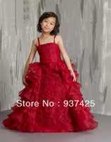 Reference Images Baby Ball Gown customize organza flower kids ball gown pageant dress spaghetti strap embroidery beads corset style frilled sweep cocktail dress