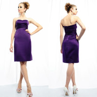 Reference Images Chiffon Sweetheart BS34 Newest sweetheart purple satin knee length tight party dresses 2014 party dress