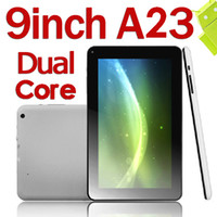 9 inch Dual Core Android 4.2 9 Inch Allwinner A23 Android 4.2 Tablet Pc Capacitive Screen Wifi 3G Camera Q8 A20 Update Version Christmas Cheapest