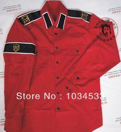 Wholesale Michael Jackson CTE Style Shirt For MJ Fans RED Color