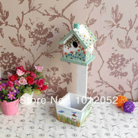 Wholesale Forest bird feeder house bird feeder birds tableware wooden bird feeder