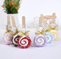 Wholesale Cute Lollipop Washcloth Bridal Baby Shower Wedding Party Favor Small Towel