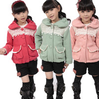 Wholesale Spring Autumn Korean Children jacket Coat single breasted Girls Big Sweatshirt Coat year Baby Kids Clothes Coats TS66
