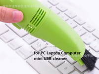 Wholesale Mini Computer USB Vacuum Keyboard Cleaner for PC Laptop Computer Dust Collector free Ship