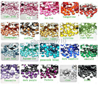 Wholesale MM Flatback China Acrylic Rhinestones Optional Red Pink Yellow Purple Black Clear Green etc Nail Art Rhinestones DIY Project Ma