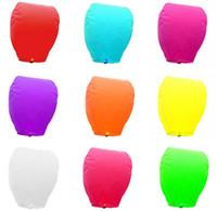 9 couleur lanterne qui souhaitent feu ballon chinois lanterne Kongming souhaite lampe Sky lanternes livraison gratuite