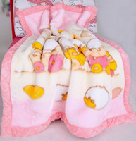 Wholesale raschel blanket baby carpet soft blankebaby go out to hold the baby blankets Baby Bath Towels Animal Children Bath