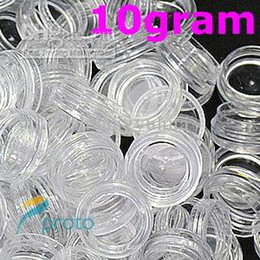 Wholesale g clear round bottle jars hard plastic pot nail art storage