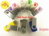 al por mayor venta al por mayor unidad flash de 128 gb-Al por mayor - 128 GB personalizada USB giratorio 2.0 Flash Memory Pen Drives Sticks discos discos de 128 GB USB Pendrives Thumbdrives0024w