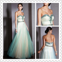 Wholesale 2014 Newest Design Sweetheart Crystal Beaded Prom Ball Gown Floor Length Sleeveless Party Gown Evening Dresses
