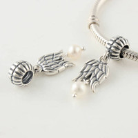 Wholesale Authentic ALE Sterling Silver Thread Guardian angel Dangle Bead Fits European Pandora Charm Bracelets