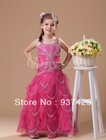 Reference Images Baby A-Line colorfull Organza Spaghetti beads sequins corset little girls dresses floor length zipper back customize girls pageant dresses