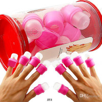 Nail Polish Remover   Wholesale - New Fashion 2013 Supernova Sale 10piece set Wearable Salon DIY Nail Art Acrylic UV Gel Polish Remover Soak Soakers Cap Tool HYA*