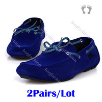 Wholesale 2Pairs New Designer Men Boat Shoes Moccasins Shoes Slip On Loafer Driving Shoes16193 Abic