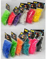 Cord & Wire   free shipping mix colors 30 bags wholesale rubber bands refill for rainbow loom diy bracelets (600pcs+24clips) bag